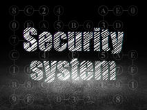 Privacy concept: Security System in grunge dark Stock Photography
