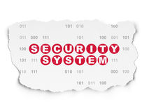 Privacy concept: Security System on Torn Paper Royalty Free Stock Photography