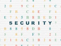 Privacy concept: Security on wall background Royalty Free Stock Photo