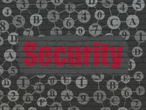 Privacy concept: Security on wall background Royalty Free Stock Images