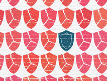 Privacy concept: shield icon on wall background Royalty Free Stock Photos
