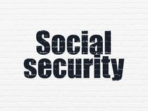 Privacy concept: Social Security on wall background Stock Images
