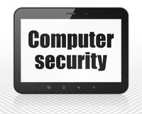Privacy concept: Tablet Pc Computer with Computer Security on display Royalty Free Stock Image