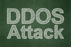 Privacy concept: DDOS Attack on chalkboard background Royalty Free Stock Photo