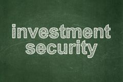 Privacy concept: Investment Security on chalkboard background. Privacy concept: text Investment Security on Green chalkboard background Royalty Free Stock Image