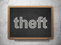 Privacy concept: Theft on chalkboard background Stock Photography