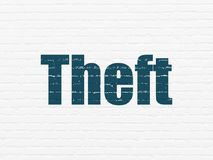 Privacy concept: Theft on wall background Stock Photos