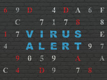 Privacy concept: Virus Alert on wall background Stock Photo