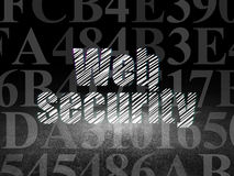 Privacy concept: Web Security in grunge dark room Stock Photos