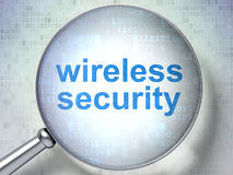 Privacy concept: Wireless Security with optical Stock Photo