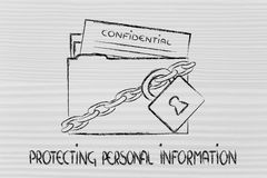 Privacy and confidential information portection Stock Image
