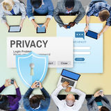 Privacy Confidential Protection Security Solitude Concept Royalty Free Stock Image