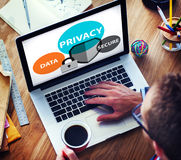 Privacy Data Secure Protection Safety Concept Stock Image