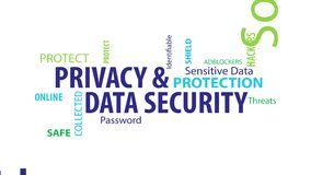 Animated Privacy and Data Security Word Cloud