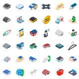 Privacy deposit icons set, isometric style Royalty Free Stock Image