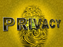 Privacy Fingerprint Indicates Login Unauthorized And Encrypt Stock Photos