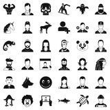 Privacy icons set, simple style. Privacy icons set. Simple style of 36 privacy vector icons for web isolated on white background Stock Photography