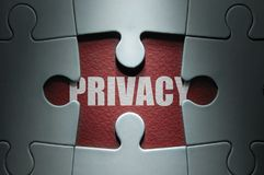 Privacy jigsaw concept royalty free stock photography