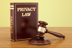 Privacy Law concept, 3D. Rendering Royalty Free Stock Image