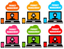 Privacy management Royalty Free Stock Images