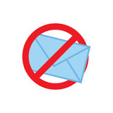 Privacy mode icon with security feature and email Stock Images