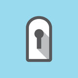 Privacy mode icon with security feature and keyhole Royalty Free Stock Photography