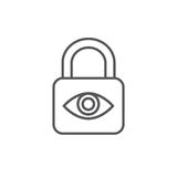 Privacy mode icon with security feature - lock. Privacy mode icon with security feature Stock Photography