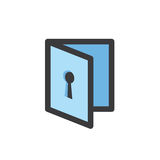 Privacy mode icon with security feature Royalty Free Stock Images