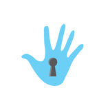 Privacy mode icon with security feature Stock Photos