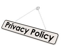 Privacy policy banner Royalty Free Stock Photography