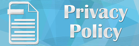 Privacy Policy Blue Banner Stock Images