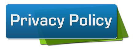 Privacy Policy Blue Green Horizontal Squares. Privacy policy text written over blue green background Royalty Free Stock Image