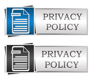 Privacy Policy Blue Grey Button Style Royalty Free Stock Images