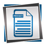 Privacy Policy Blue Square Royalty Free Stock Photos