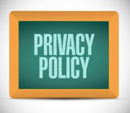 Privacy policy board sign illustration design Royalty Free Stock Photo