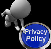 Privacy Policy Button Shows The Company Data Stock Image