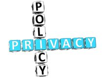 Privacy Policy Crossword Stock Image