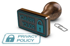 Privacy Policy, Customer Data Protection Royalty Free Stock Photo