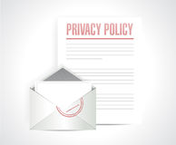 Privacy policy documents illustration Stock Photography