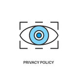 Privacy policy icon Stock Photography