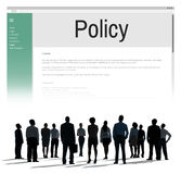 Privacy Policy Information Principle Strategy Rules Concept.  Royalty Free Stock Photos
