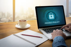 PRIVACY POLICY   Private Security Protection) Royalty Free Stock Image