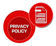 Privacy Policy Red Circles Stock Photo