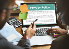 Privacy Policy Service Documents Terms of Use Concept. People Having Privacy Policy Service Documents Terms of Use Stock Image