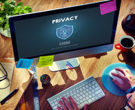 Privacy Private Secret Security Protection Concept Stock Photos