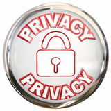 Privacy Round Icon Personal Information Lock Safety Stock Photography