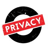 Privacy rubber stamp Stock Photo