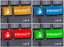 Privacy and security on the internet lock icon Stock Photos