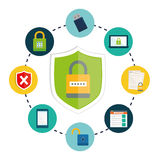 Privacy and security system graphic icons Royalty Free Stock Images