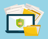 Privacy and security system graphic icons Stock Photos